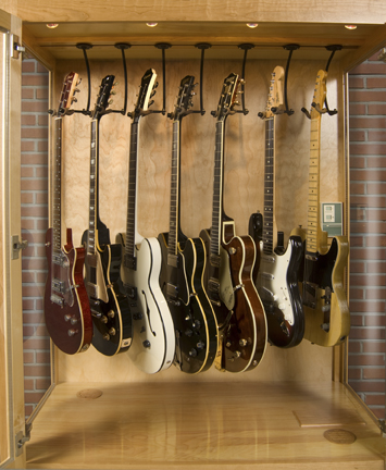 guitar display case cherry