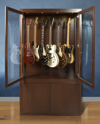 guitar display case mahogany